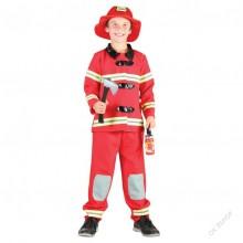 Dětský karnevalový kostým POŽÁRNÍK - HASIČ 120 -130cm ( 5 - 9 let )